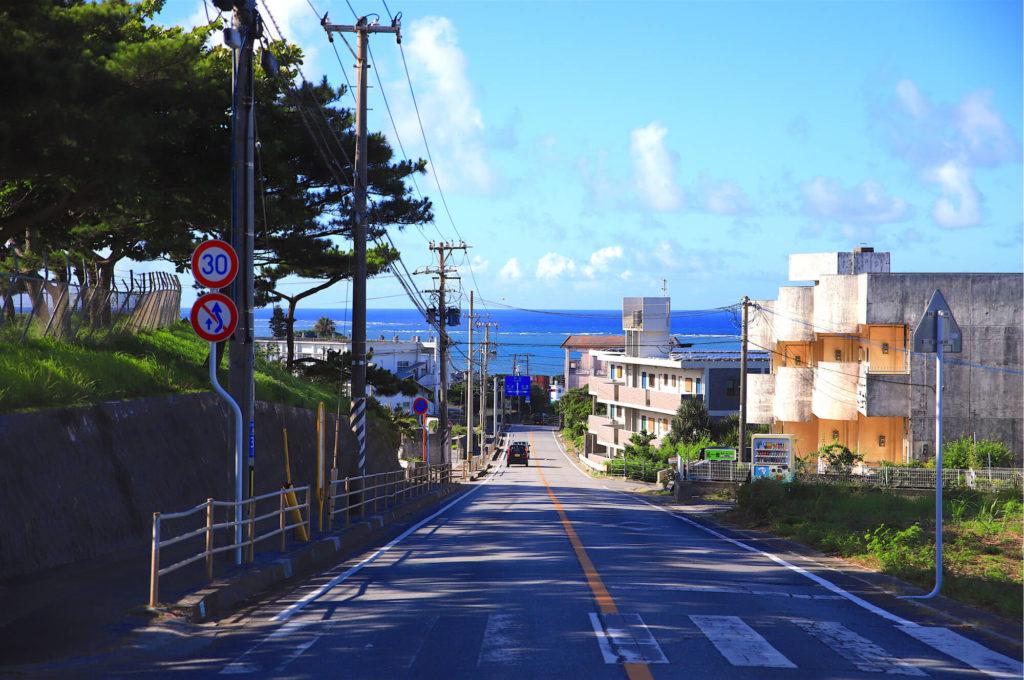 久米島南部のパノラマ