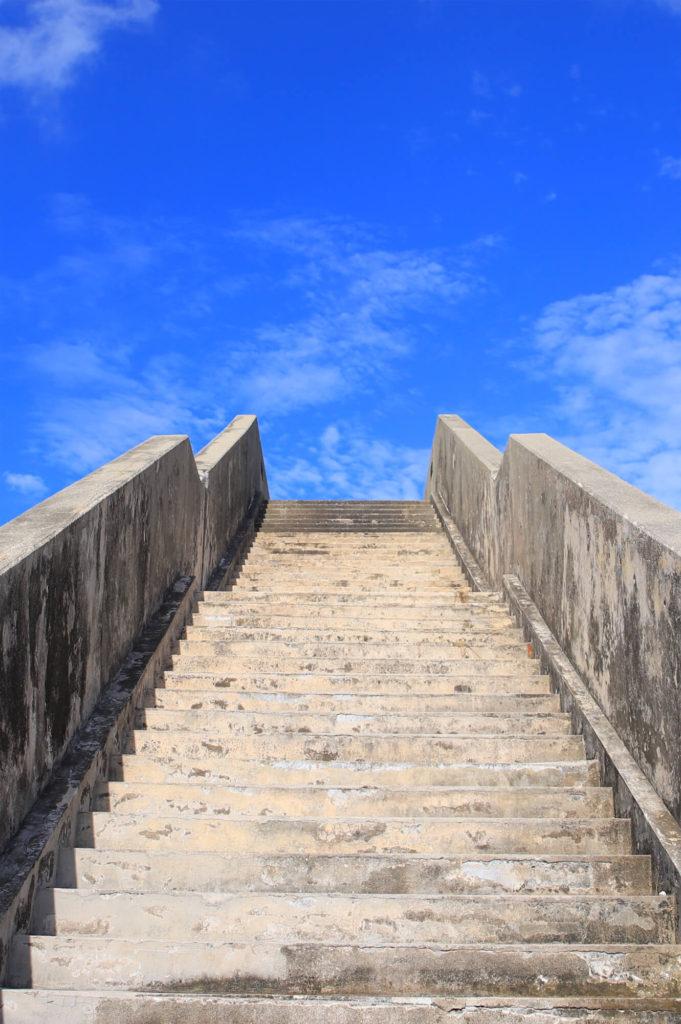 シールガチ橋の階段