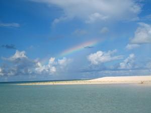 ハテの浜-虹